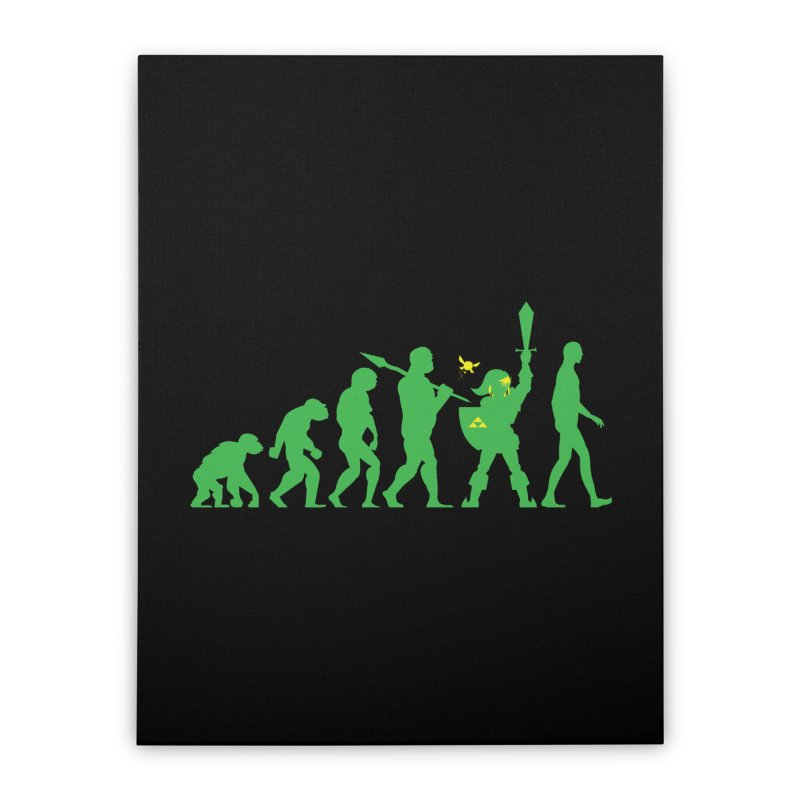 Missing Link Home Stretched Canvas by Jonah Makes Art