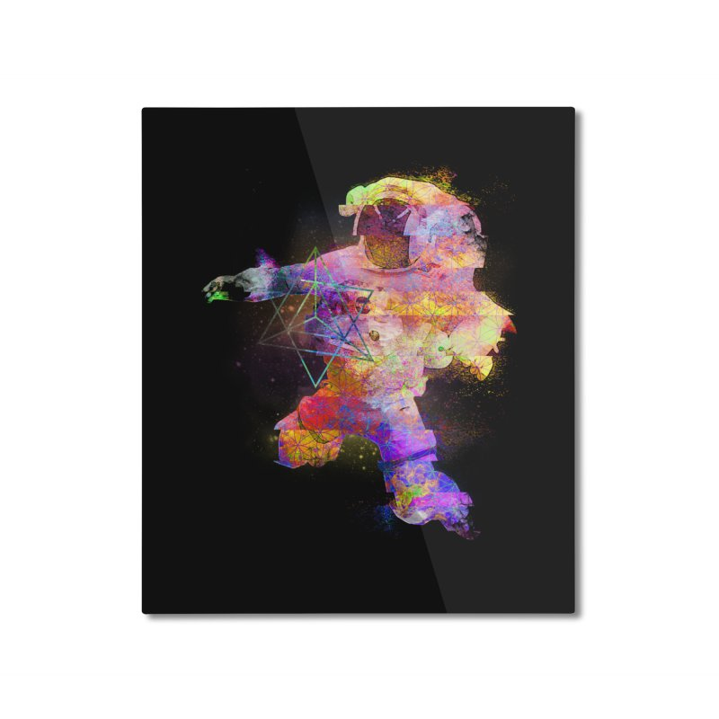 Space Trippin Home Mounted Aluminum Print by Jonah Makes Art