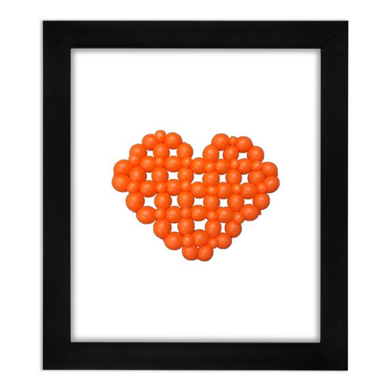Heart Home Framed Fine Art Print by Jonah's Twisters Apparel Shop