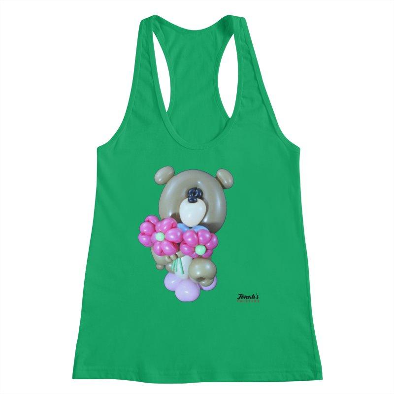 Bear with logo Women's Tank by Jonah's Twisters Apparel Shop
