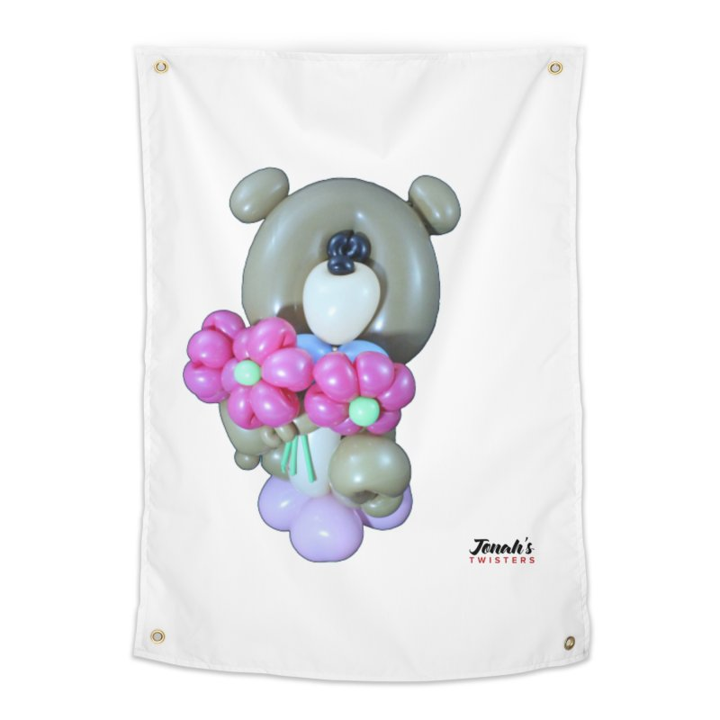 Bear with logo Home Tapestry by Jonah's Twisters Apparel Shop