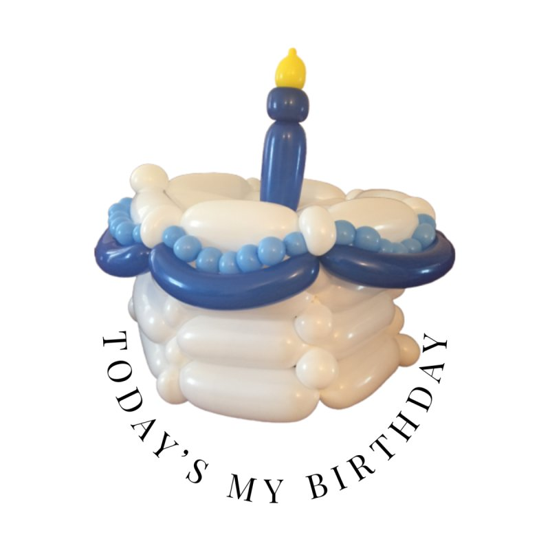 It's my birthday (Blue) Men's T-Shirt by Jonah's Twisters Apparel Shop
