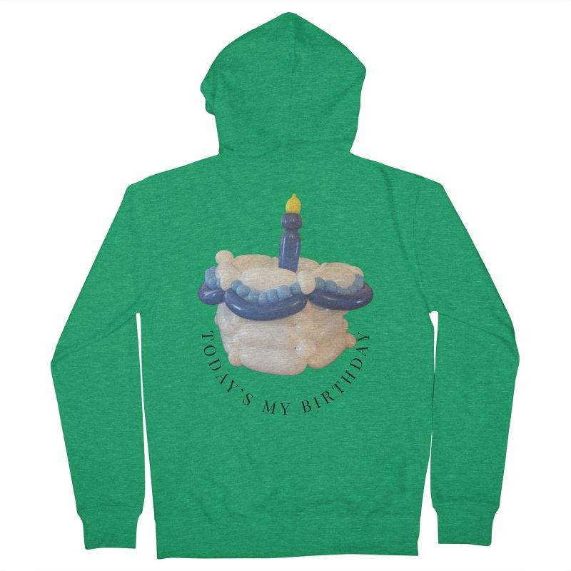 It's my birthday (Blue) Men's Zip-Up Hoody by Jonah's Twisters Apparel Shop
