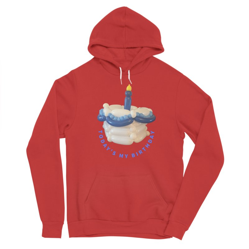 Birthday Cake (blue with blue words) Women's Pullover Hoody by Jonah's Twisters Apparel Shop