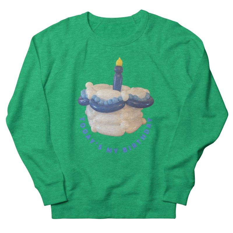Birthday Cake (blue with blue words) Women's Sweatshirt by Jonah's Twisters Apparel Shop