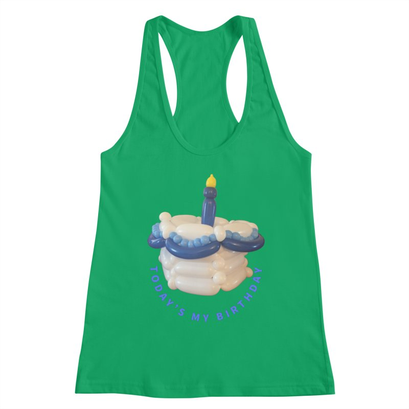 Birthday Cake (blue with blue words) Women's Tank by Jonah's Twisters Apparel Shop
