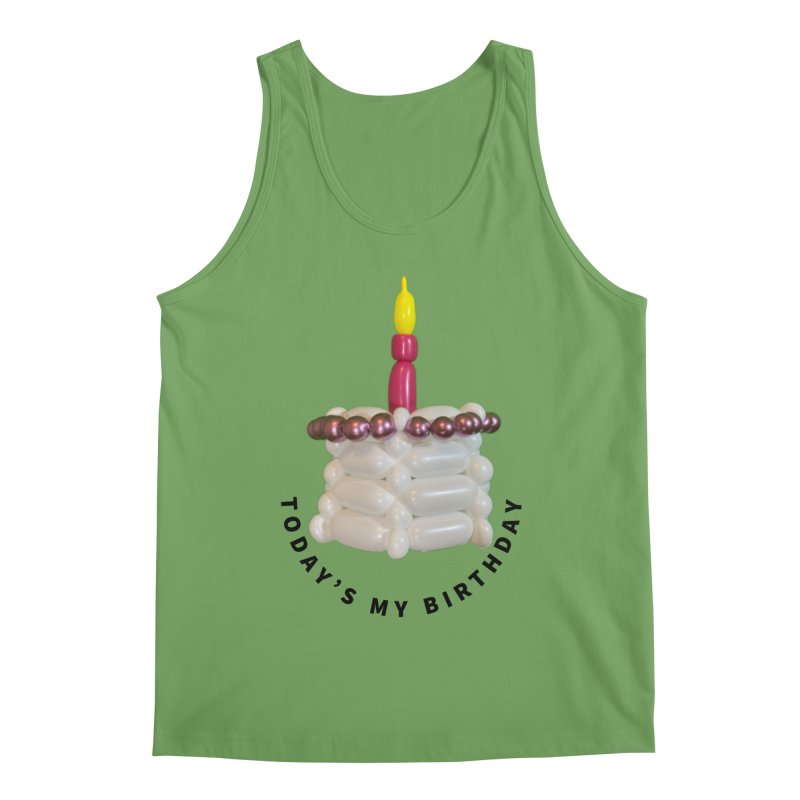 It's my birthday with a pink cake Men's Tank by Jonah's Twisters Apparel Shop