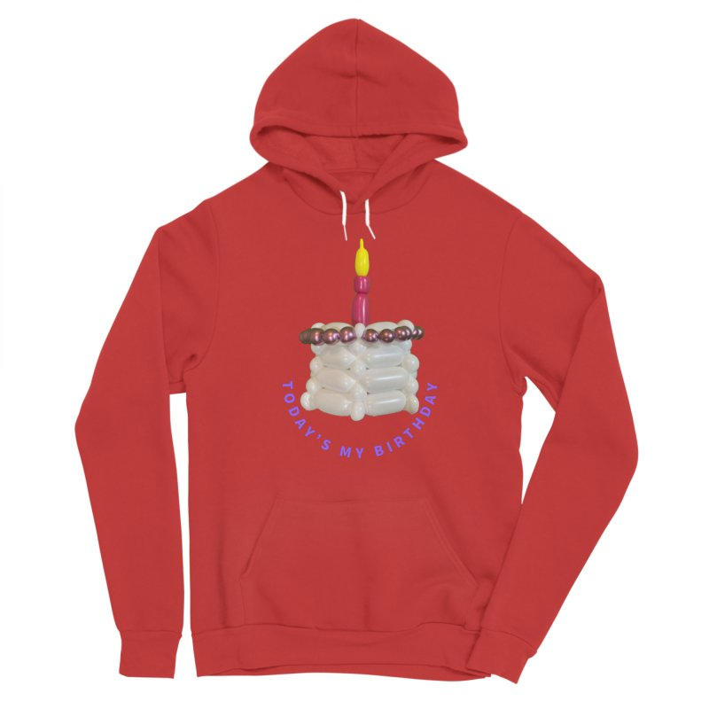 Today's My Birthday (Pink cake with Purple words) Men's Pullover Hoody by Jonah's Twisters Apparel Shop