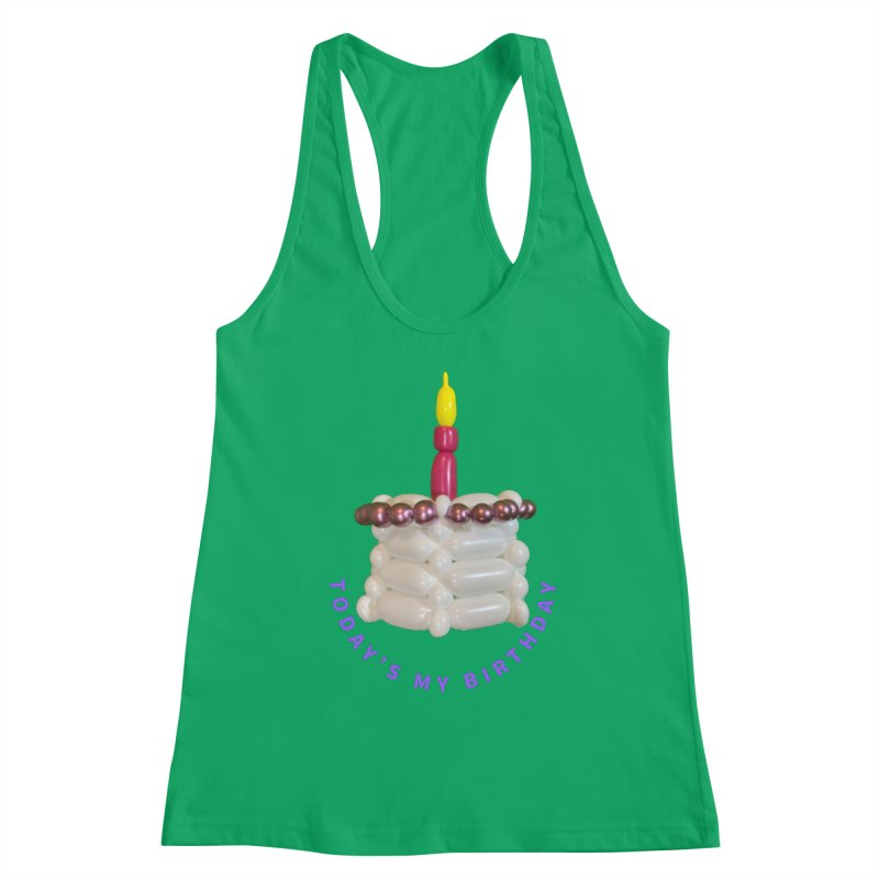 Today's My Birthday (Pink cake with Purple words) Women's Tank by Jonah's Twisters Apparel Shop