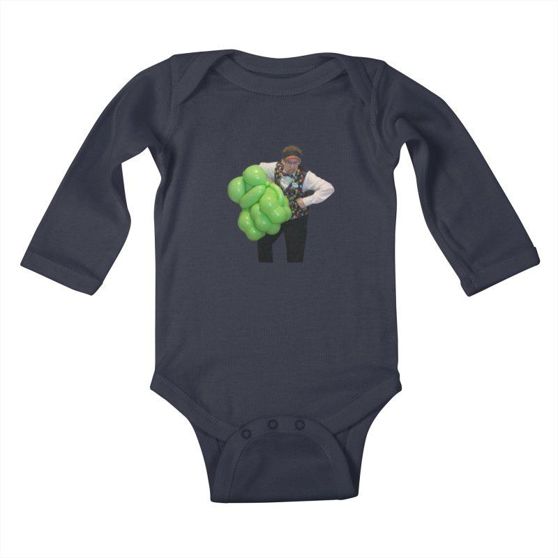 Jonah with hulk fist Kids Baby Longsleeve Bodysuit by Jonah's Twisters Apparel Shop