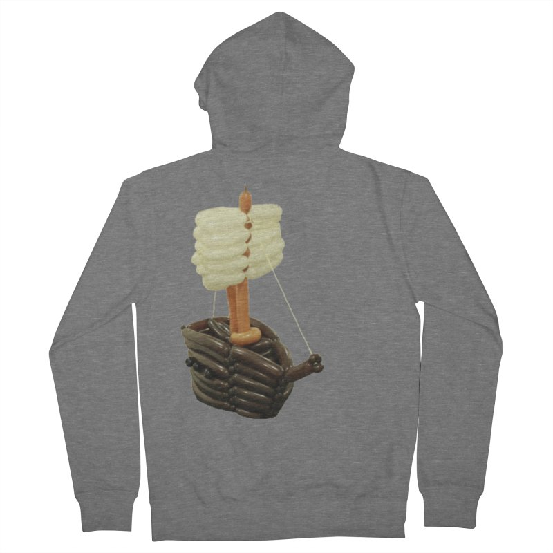 Ship Men's Zip-Up Hoody by Jonah's Twisters Apparel Shop