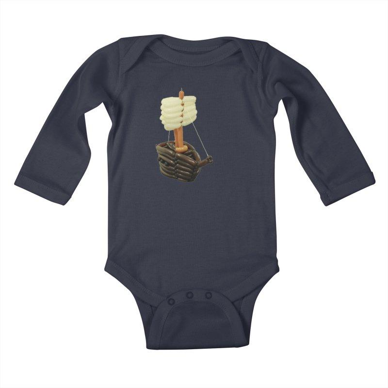 Ship Kids Baby Longsleeve Bodysuit by Jonah's Twisters Apparel Shop