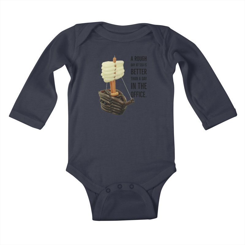 Ship with quote Kids Baby Longsleeve Bodysuit by Jonah's Twisters Apparel Shop