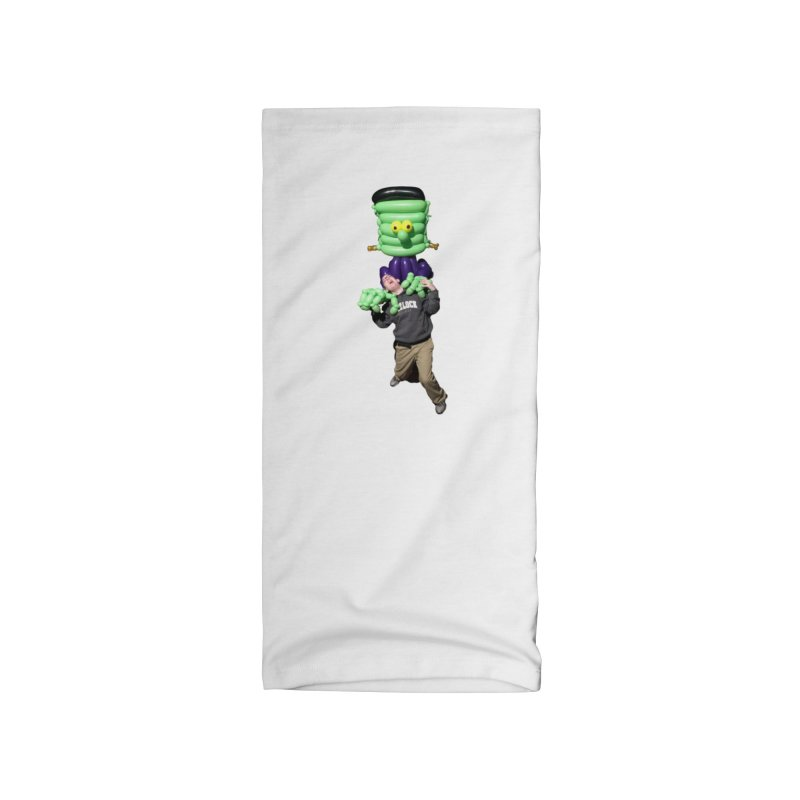 Jonah with Frankenstein's monster Accessories Neck Gaiter by Jonah's Twisters Apparel Shop