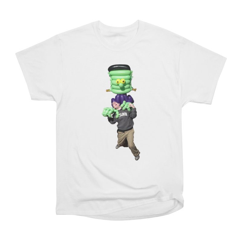 Jonah with Frankenstein's monster Women's T-Shirt by Jonah's Twisters Apparel Shop