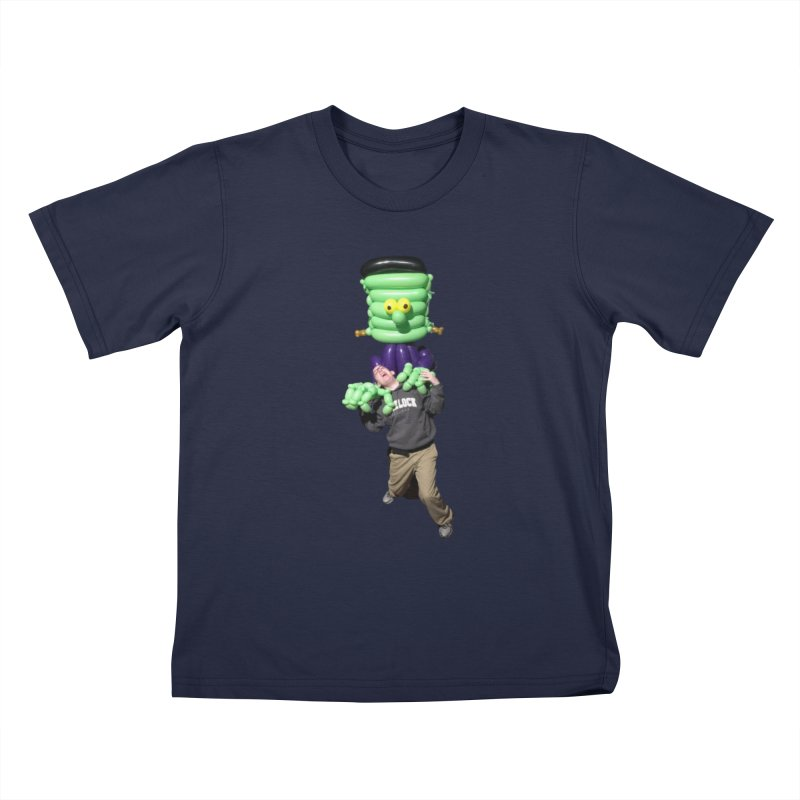 Jonah with Frankenstein's monster Kids T-Shirt by Jonah's Twisters Apparel Shop