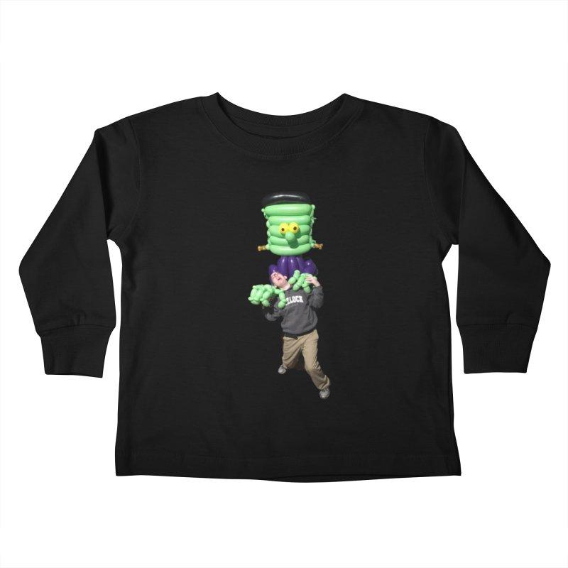 Jonah with Frankenstein's monster Kids Toddler Longsleeve T-Shirt by Jonah's Twisters Apparel Shop