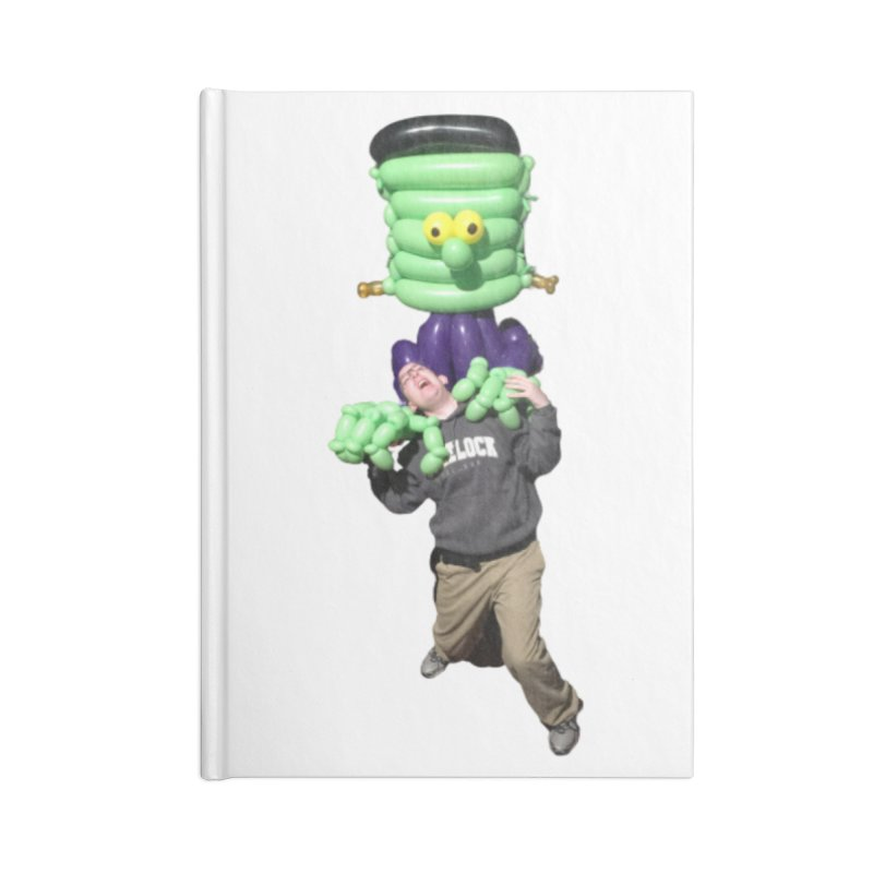 Jonah with Frankenstein's monster Accessories Notebook by Jonah's Twisters Apparel Shop