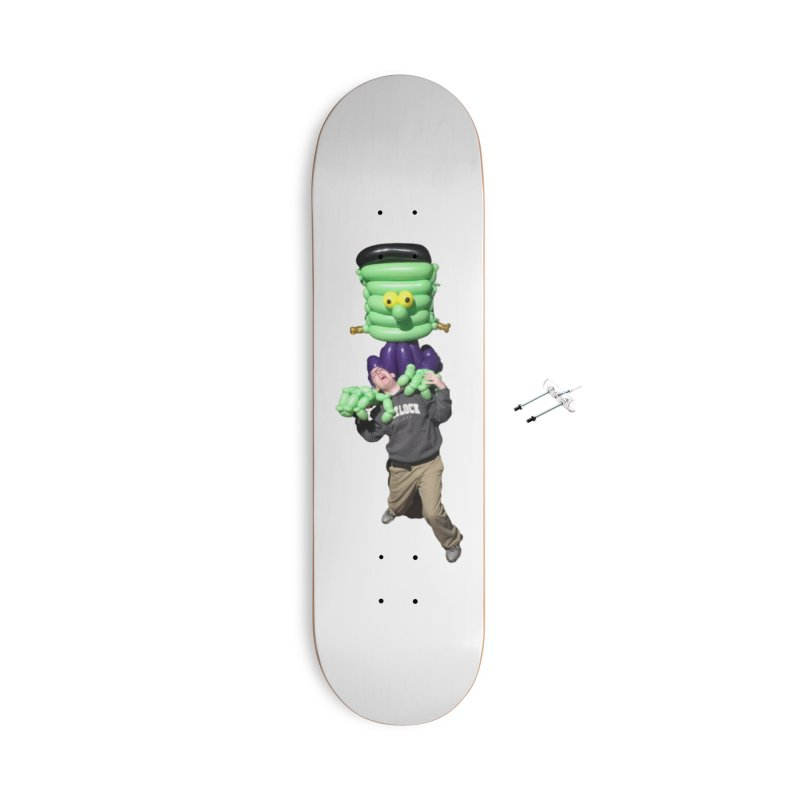 Jonah with Frankenstein's monster Accessories Skateboard by Jonah's Twisters Apparel Shop