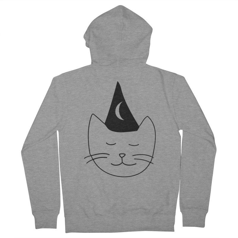 Wizard Kitten Men's Zip-Up Hoody by jonathanleebyrd's Artist Shop