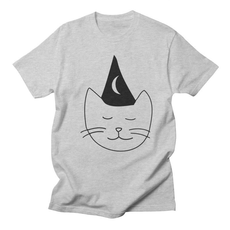 Wizard Kitten Men's T-shirt by jonathanleebyrd's Artist Shop