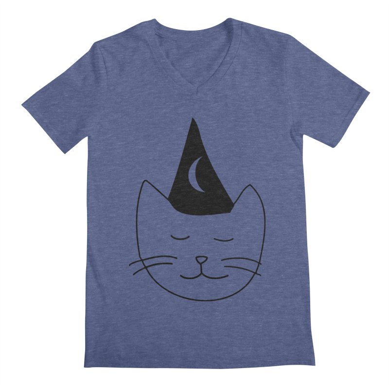 Wizard Kitten Men's V-Neck by jonathanleebyrd's Artist Shop