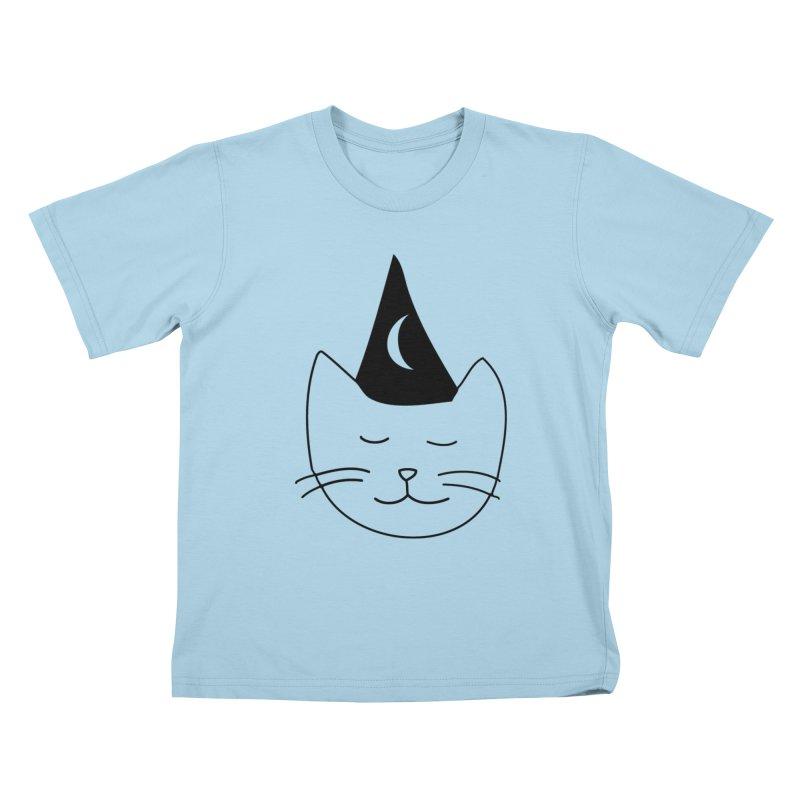 Wizard Kitten Kids T-shirt by jonathanleebyrd's Artist Shop