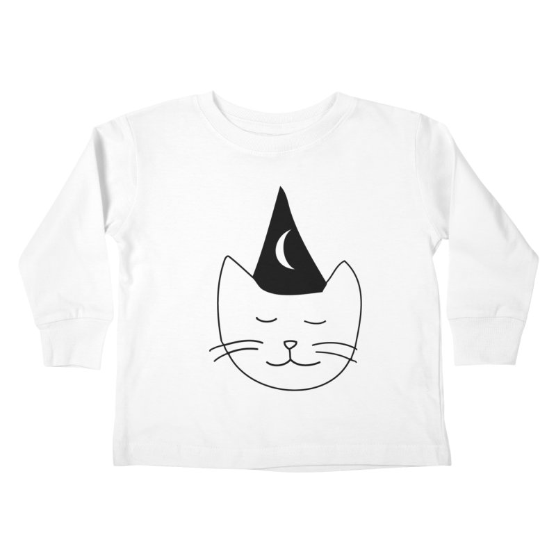 Wizard Kitten Kids Toddler Longsleeve T-Shirt by jonathanleebyrd's Artist Shop