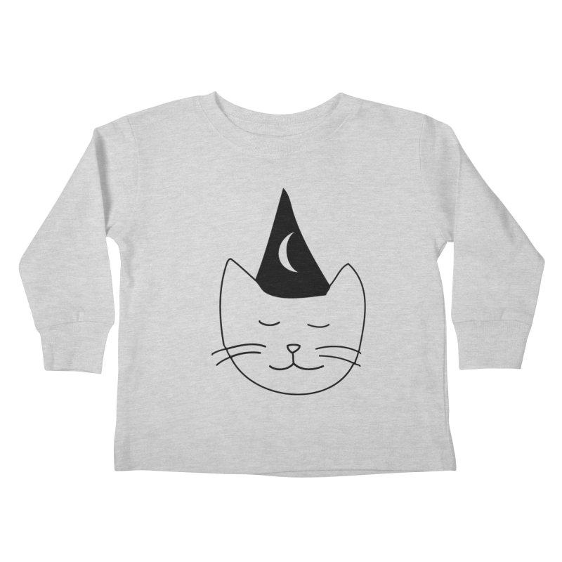 Wizard Kitten Kids Toddler Longsleeve T-Shirt by jonathanleebyrd's Artist Shop