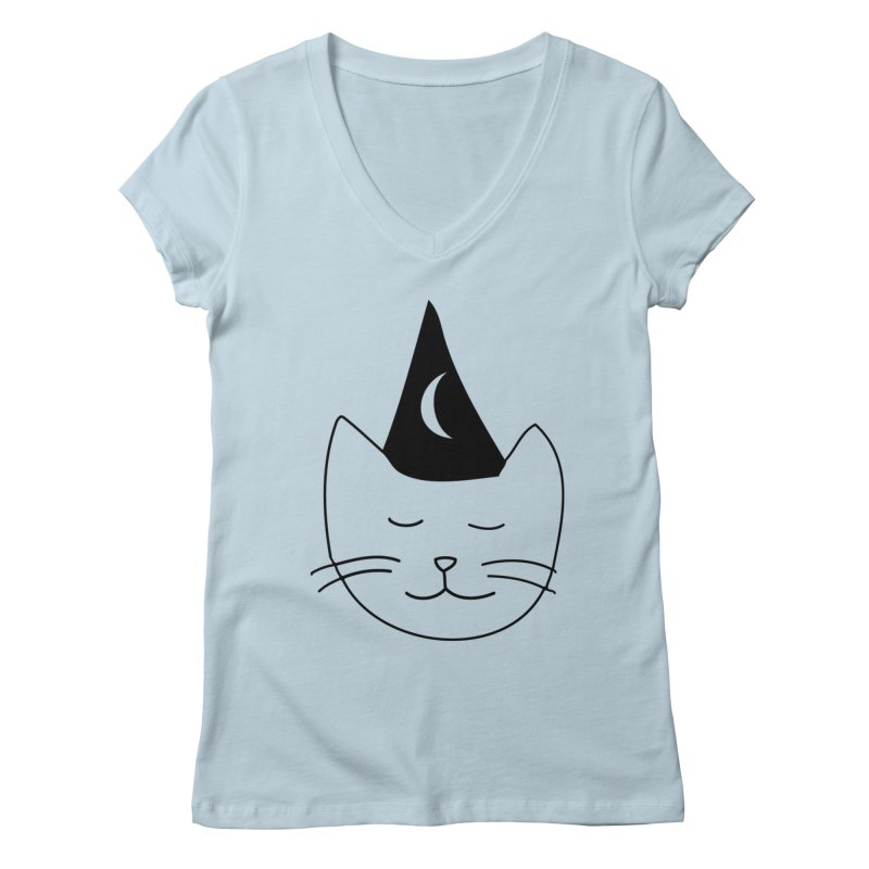 Wizard Kitten Women's V-Neck by jonathanleebyrd's Artist Shop