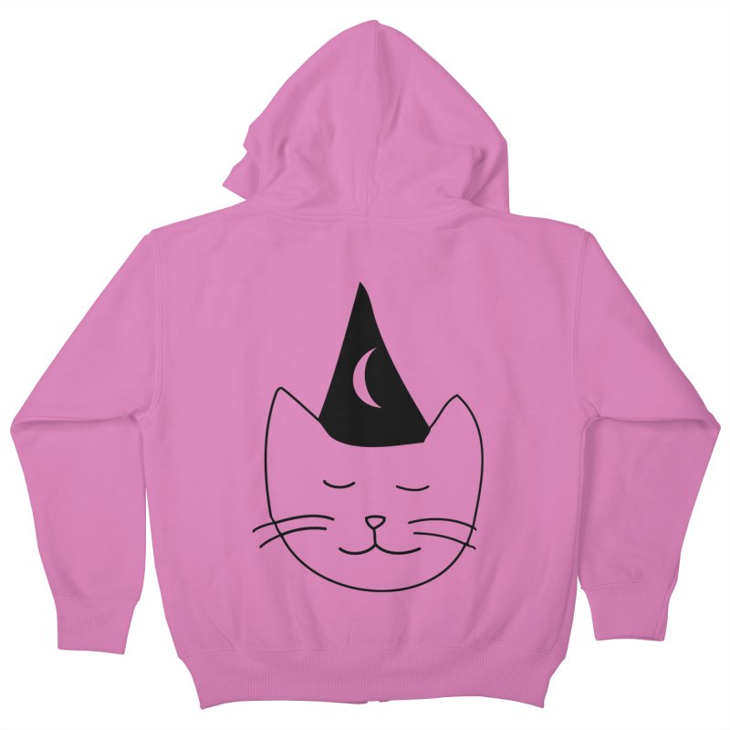 Wizard Kitten Kids Zip-Up Hoody by jonathanleebyrd's Artist Shop