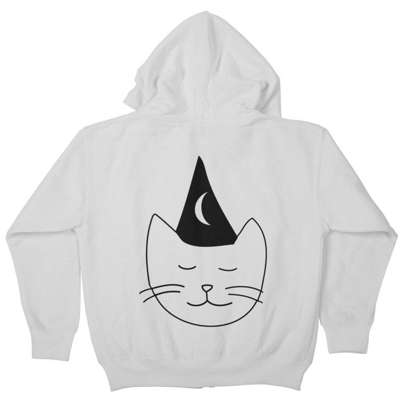 Wizard Kitten Kids Zip-Up Hoody by jonathanleebyrd's Artist Shop