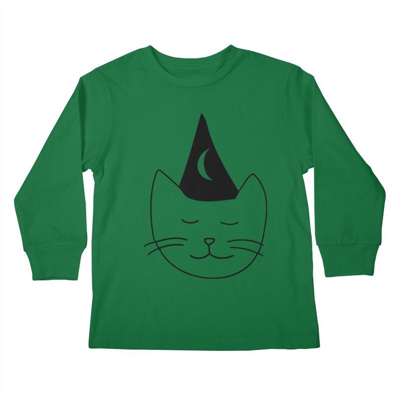 Wizard Kitten Kids Longsleeve T-Shirt by jonathanleebyrd's Artist Shop
