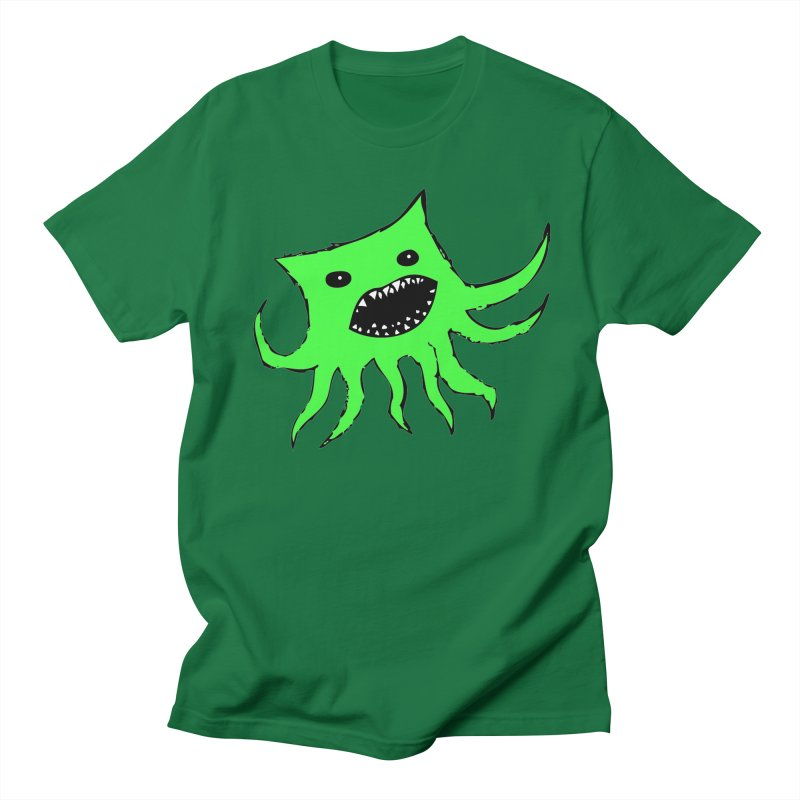Green Monster Guy Men's T-shirt by jonathanleebyrd's Artist Shop