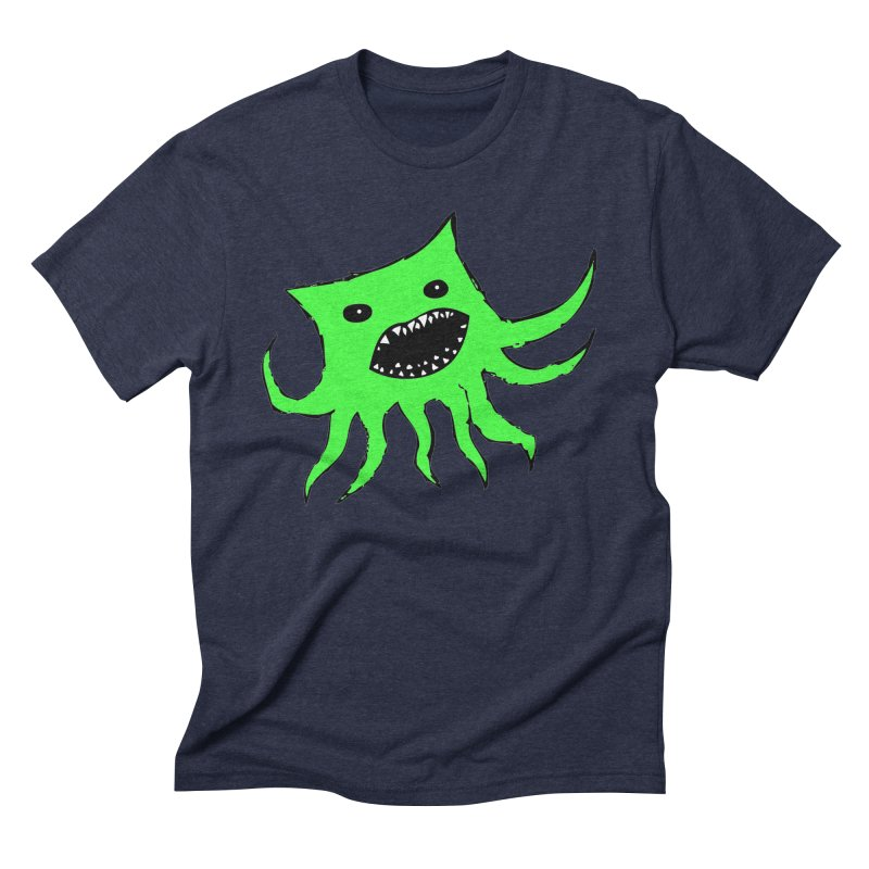 Green Monster Guy Men's Triblend T-Shirt by jonathanleebyrd's Artist Shop