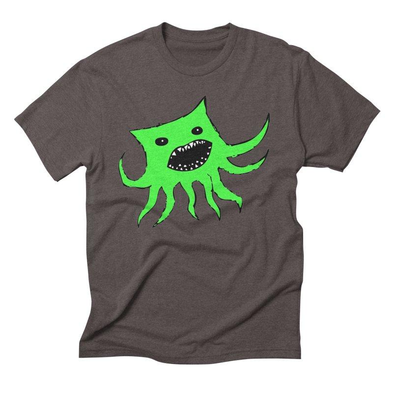 Green Monster Guy Men's Triblend T-Shirt by jonathanleebyrd's Artist Shop