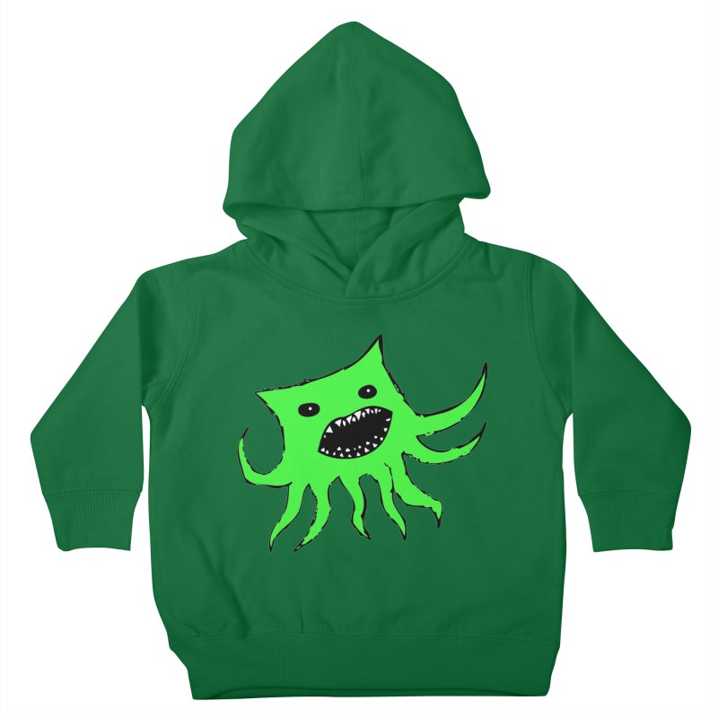 Green Monster Guy Kids Toddler Pullover Hoody by jonathanleebyrd's Artist Shop