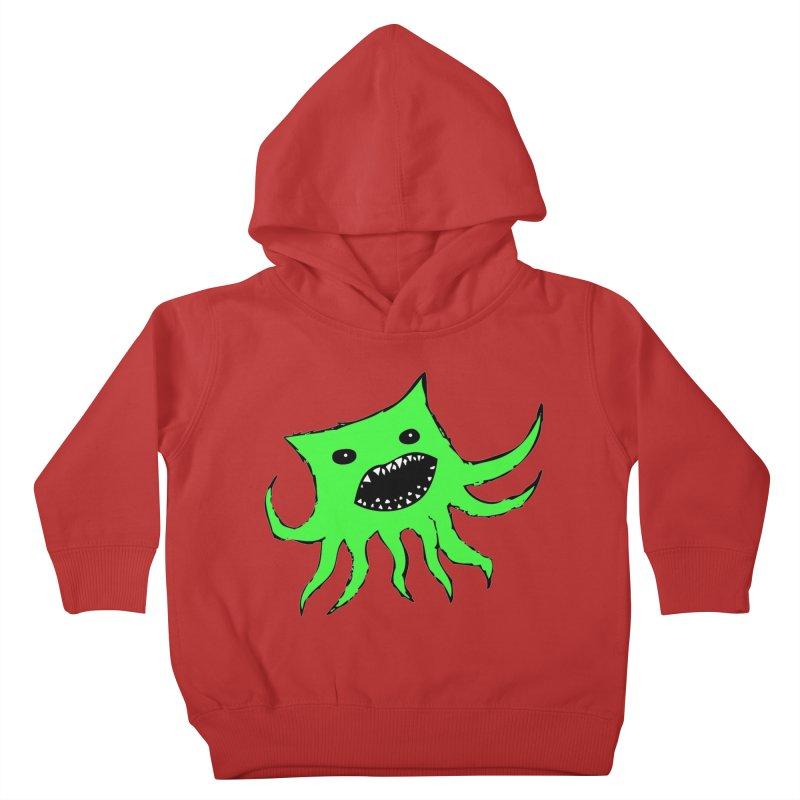 Green Monster Guy Kids Toddler Pullover Hoody by jonathanleebyrd's Artist Shop