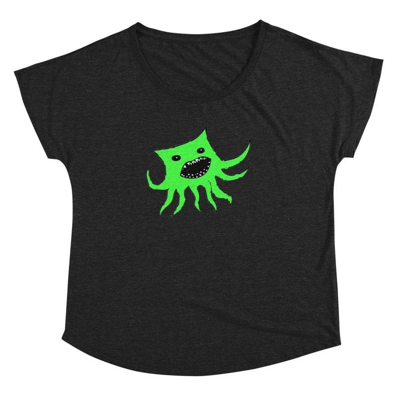 Green Monster Guy Women's Dolman by jonathanleebyrd's Artist Shop
