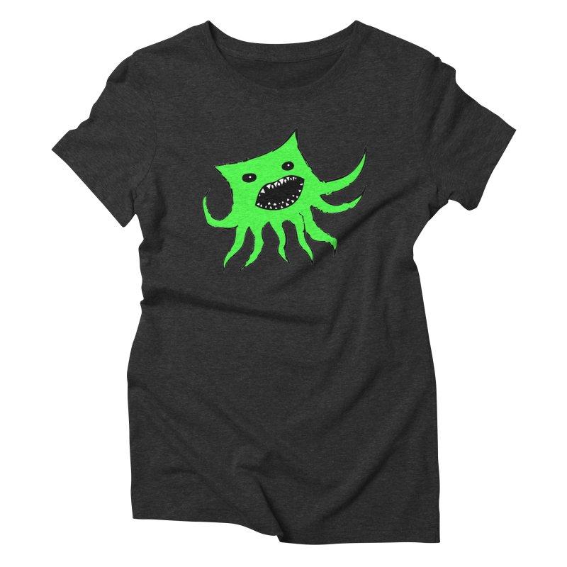 Green Monster Guy Women's Triblend T-shirt by jonathanleebyrd's Artist Shop