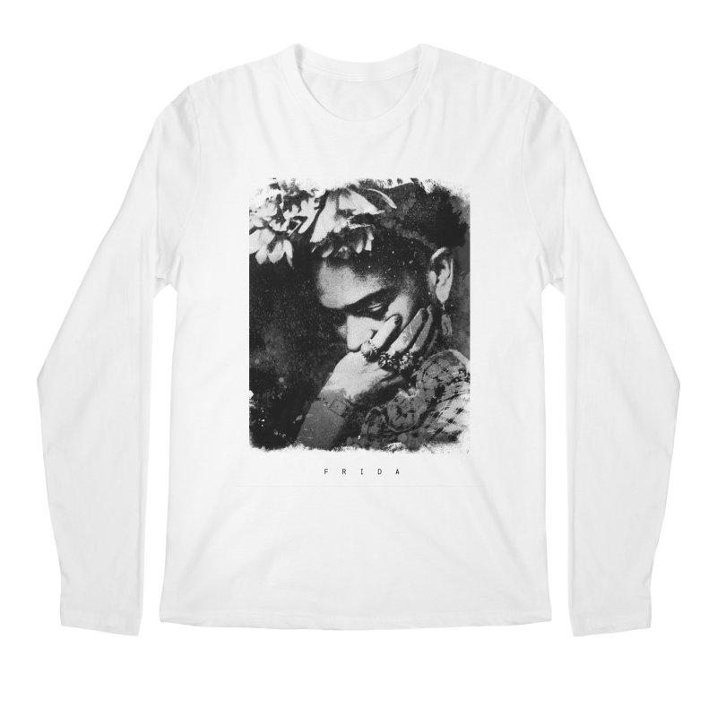 Frida Kahlo Portrait II Men's Regular Longsleeve T-Shirt by Jonathan Wilson