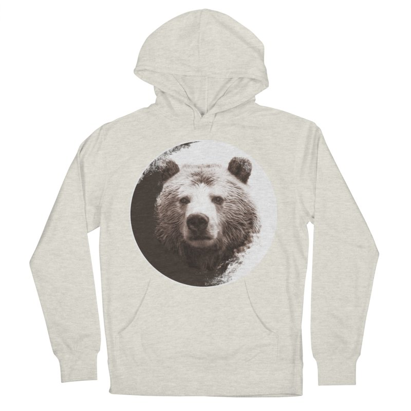 Grizzly Bear Women's French Terry Pullover Hoody by Jonathan Wilson