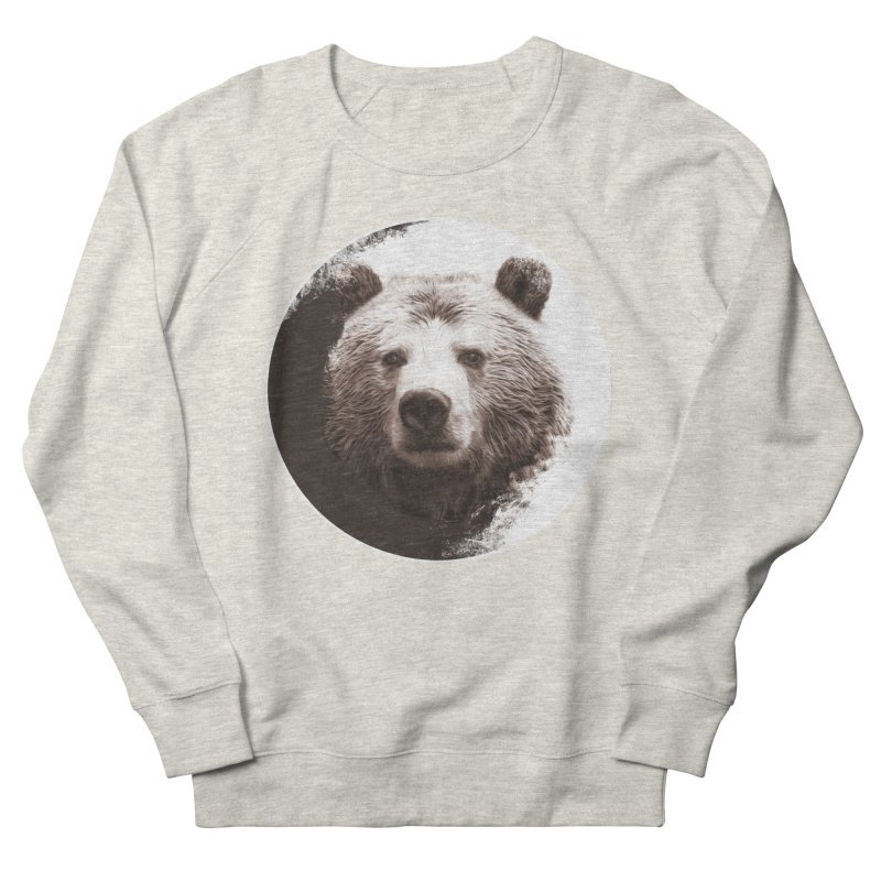 Grizzly Bear Women's French Terry Sweatshirt by Jonathan Wilson