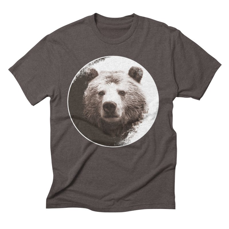Grizzly Bear Men's Triblend T-Shirt by Jonathan Wilson