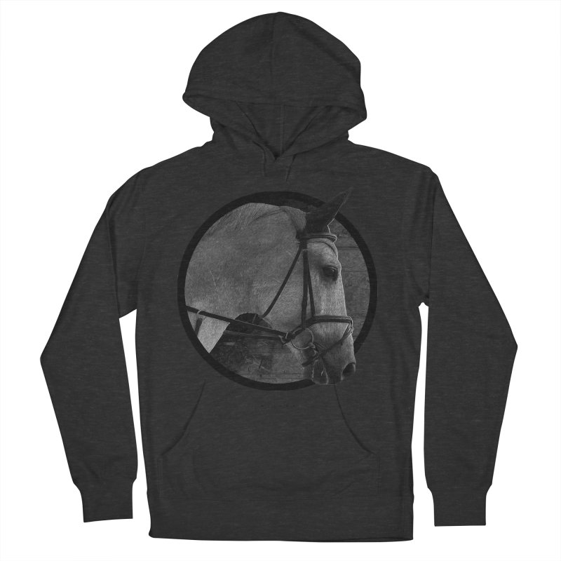Horse Women's French Terry Pullover Hoody by Jonathan Wilson