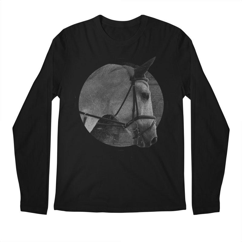 Horse Men's Regular Longsleeve T-Shirt by Jonathan Wilson