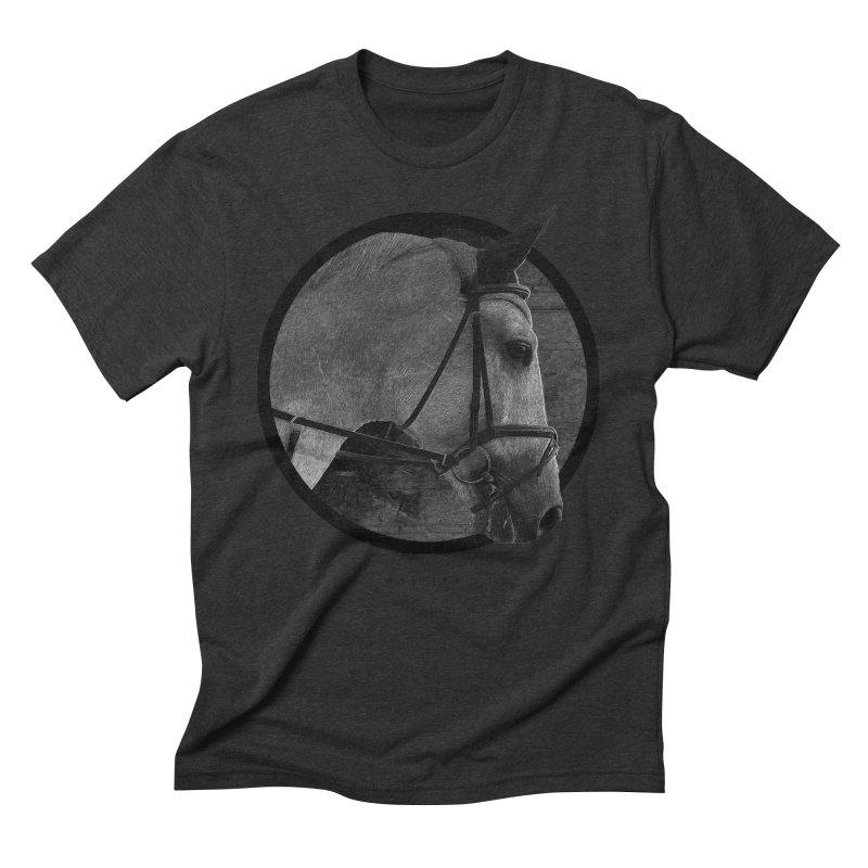 Horse Men's Triblend T-Shirt by Jonathan Wilson
