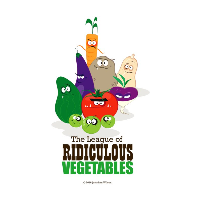 The League of Ridiculous Vegetables Men's T-Shirt by Jonathan Wilson