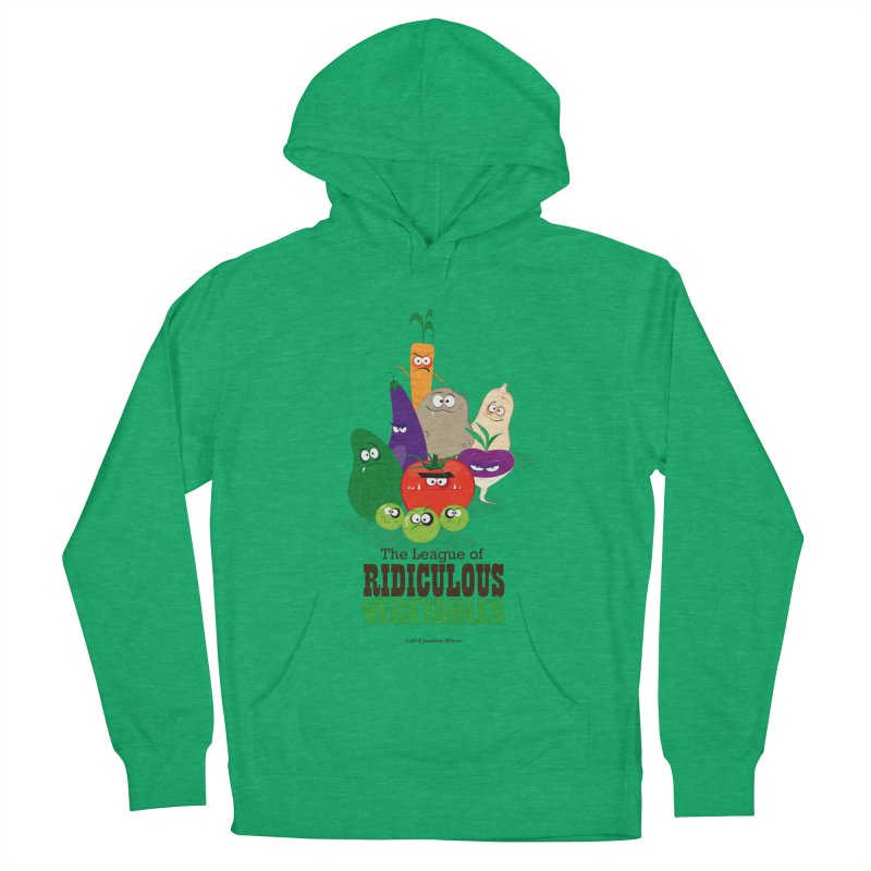 The League of Ridiculous Vegetables Women's French Terry Pullover Hoody by Jonathan Wilson