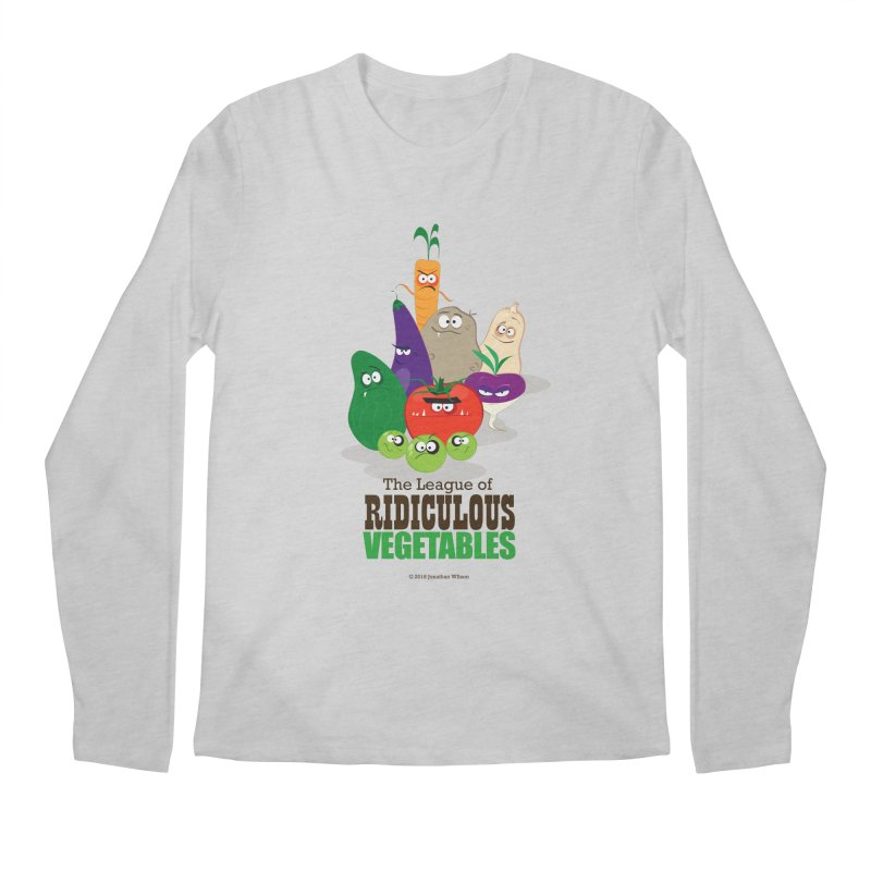 The League of Ridiculous Vegetables Men's Regular Longsleeve T-Shirt by Jonathan Wilson